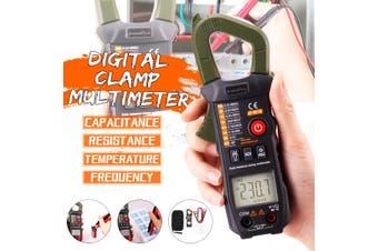 Ammeter ACV/DCV ACA Auto Range Measurement of large capacitance NCV Digital clamp meter(green,Type A)