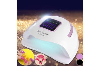 350W/54W Nail Dryer UV Lamp Gel Nail Polish Quick Curing Light Manicure Timer Sensor(purple,EU Plug)