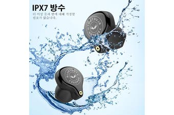 [3600mAh Capacity, IPX7 Waterproof] Newest Wireless bluetooth 5.0 1pcs/2pcs EarphonesTouch Control 9D Surround Sound Earbuds Headphones with/without Charging Case(black,3600mah Binaural Earbuds With Case)