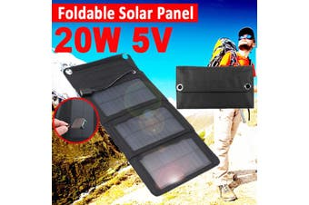 20W Solar Panel Charger 5V USB Foldable Power Bank For Cellphone Outdoor Camping(50W 5V)