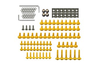 137pcs Motorcycle Aluminum Fairing Bolt Kit Fastener Clip Screw Fits Most Of Sportbikes(yellow)