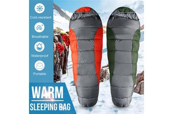Portable 210T Warm Cold Splicable Sleeping Bag Lightweight Waterproof Envelope with Compression Sack for Outdoor Camping Backpacking Hiking Adults Kids Travel(armygreen,R Style)