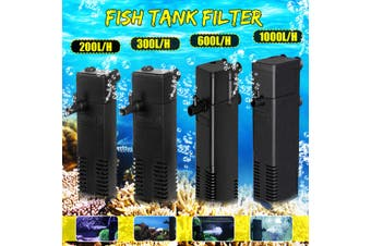 220V Aquarium Filter Pump Built-in Fish Tank Water Cycle Clean Submersible Pump Increase Oxygen Filter Pump 600L/H(black,Internal Pump 600L/H)