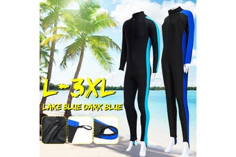 Men Women's Full Body Stretch Wetsuit Swimming Diving Snorkeling Surfing Suit(white,L)