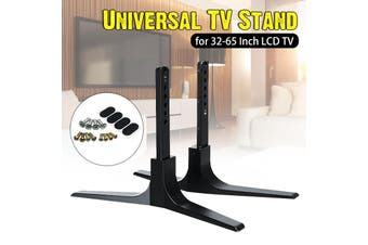 "Universal TV Stand Base Plasma LCD Flat Screen Table Top Pedestal Mount 32-65"" For Sha*rp Sam-sung TC-L S-ony(black)"
