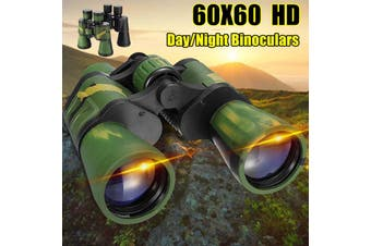 60x60 Zoom Night Vision HD Binoculars Optical Telescope Outdoor With Carry(green)