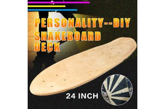 """(Not Included Wheels) 24"""" 7 Layers Natural Maple Skateboard Deck Board Part Single Foot Wooden DIY Multi-layer Solid Wood Fingerboard Board(Shakeboard Deck)"""
