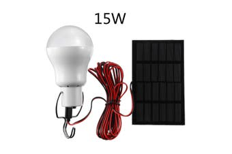 【2020 Bday】15/20W Solar Panel Power LED Bulb Portable Light Outdoor Camping Energy For Home Outdoor Commercial Lighting(15W)