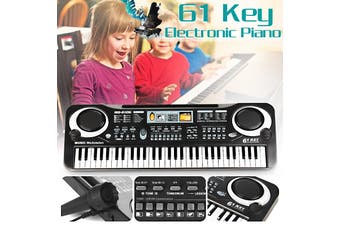 61-Key Electric Digital Key Board Piano Musical Instruments Kids Toy With Microphone Gifts