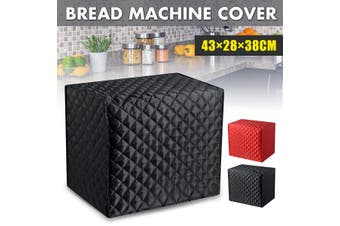 43×28×38cm Dustproof Bread Machine Cover Protector Home Kitchen Anti Oil Dust(black)