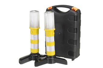 2pcs Car Emergency Warning LED Light 360 ° Viewing Angle Signal Light Roadside Flash Flares Beacon Safety Strobe Red Orange Yellow &White(yellow,yellow)