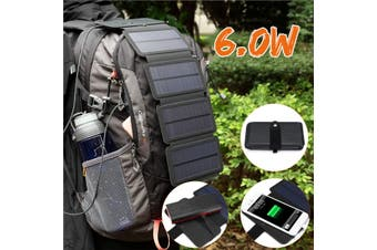 【Free Shipping + Flash Deal】6W Portable Solar Panel Charger USB Battery Charger For Phone MP3/MP4/PDA(black,6W)