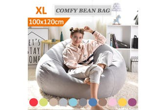 Luxury Large Bean Bag Chair Sofa Cover Indoor/Outdoor Game Seat BeanBag Adults Soft Bean Bag Chairs Couch Sofa Cover Indoor Lazy Lounger For Adults Kids Wash(grey,L)