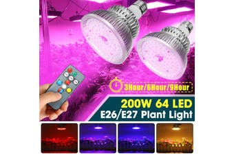 200W LED Hydroponic Full Spectrum Bulb For Plant Grow Light Growing Lamp Indoor(E27 only Bulb)