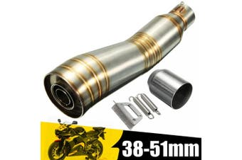 38-51mm Stainless Steel Exhaust Muffler Pipe Silencer Slip On For ATV Scooter Racing Motorcycle Street Bike Universal