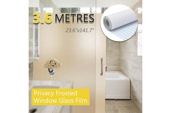 "24""x12FT Frosted Home Privacy Bedroom Bathroom DIY Window Tint Glass Film Sheet(white,60x360cm)"
