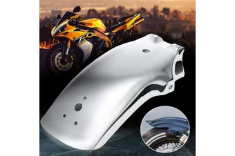 Motorcycle Universal Rear Fender Metal Mudguard Prevent Protect For Yamaha Honda Suzuki Chopper Cruiser(white)