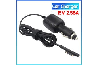 15V 2.58A Car Charger Power Supply Adapter Laptop Cable Charger for Microsoft Surface Pro 3 4 5 6 7 X /go /book 1 2/ laptop 1 2