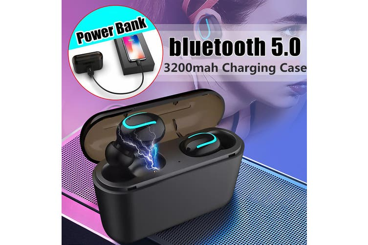 Twin True TWS Wireless Mini bluetooth 5.0 In-Ear Earphones Headset Sport Earbuds