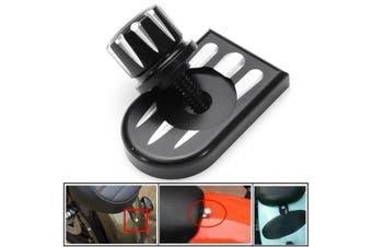 CNC Beveled Seat Bolt sportster Seat Bolt Tab Screw Mount Cover Kit(black)