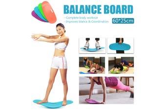 60*25*8cm Simply Keep Fit Balance Workout Twist Yoga Board Ab Toner Bonus Unisex Fitness (blue,Blue)
