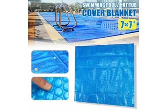 7ft x 7ft Square Hot Tub SPA Heat Retention Bubble Solar Cover Thermal Blanket(Square 210x210cm)
