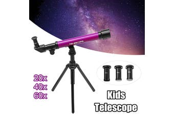 20-60x Kids Children Astronomical Telescope Tripod Science Educational Toy Gift