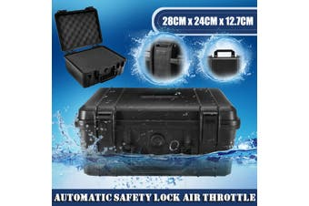 Black Waterproof Hard Plastic Carry Case Bag Tool Storage Box Portable Organizer(Waterproof Tool Box)