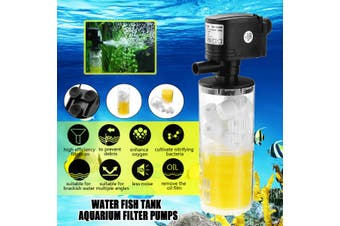 18W 1300L/H Submersible Water Internal Filter Pump For Aquarium Fish Tank Pond(Fish Tank Filter Pump 1300L/H)