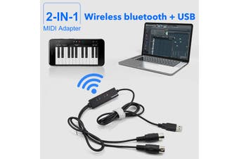 Keyboard to PC Adapter MIDI to USB bluetooth Music Recording Converter Interface