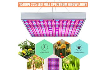 AUGIENB 1500W Led Grow light Bulb 225 LED Grow Light with & Light for Indoor Hydroponic Vegetable Cultivation Plant Light (EU Plug 5500W)