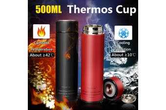 500ML Stainless Steel Thermoses Cup Health Cup Water Bottle Coffee Flask Vacuum Drinking Bottle (green,green)