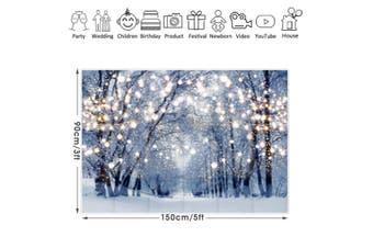 Snowflake Forest Photography Background Photo Studio Backdrop Christmas Decor