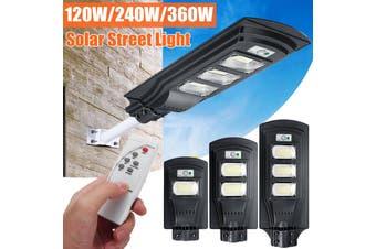 AUGIENB 40W/80W/120W Solar Street Light 20/40/60 LED Solar Lights Outdoor IP67 Waterproof Solar with Motion Sensor Security Light for Yard Garden, Street, Basketball Court, Gutter(240W)