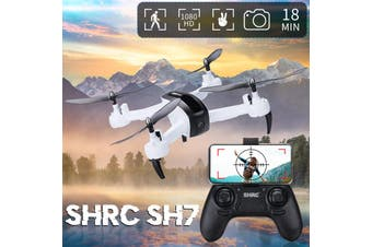 SH7 2.4Ghz 4CH Wifi RC Drone Aircraft Quadcopter Follow Me Mode HD 1080P Camera(white,1080P HD Camera)