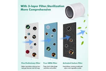 AUGIENB HEPA Filter Replacement--To Reduce Mold Odor Smoke Allergies For AUGIENB Desktop Air Purifier