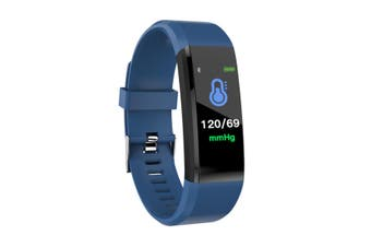 Smart Watch Activity Tracker Waterproof Heart Rate Monitor bluetooth Fitness(blue)