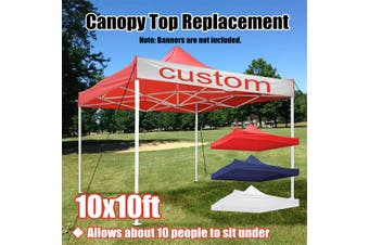 NEW Pop Up Canopy Top Replacement Patio Outdoor Sunshade Tent Cover For 10x10'(red,9.5*9.5)