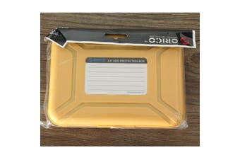 Orico Portable HDD Enclosure 17.8x13x3.9cm Plastic PHX-35 3.5 Inch SATA HDD Hard Disk Case External Hard Drive Case Box(yellow)
