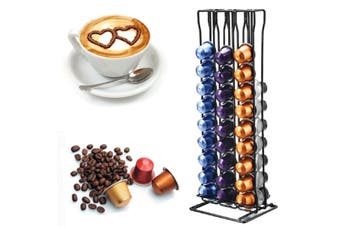 For NESPRESSO Coffee Capsules Pod Holder Stand Dispenser Rotating Rack Capsule(Type2 60PCS)