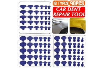 【90pcs】(Pulling Tabs) Car Dent Repair Tool Auto Paintless Dent Repair Ding Hail Removal Damage Repair T Bar Slide Hammer Lifter Pulling Tool Kit For Refrigerator Washing Machine Repair(90PCS)