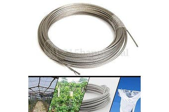 30M Clothes Line Ropes Washing 304 Stainless Steel Wire Rope Cable 3mm h y