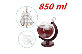 Glass Decanter Globe Liquor Decanter Gift Whiskey Bottle Large Capacity Spirits,Wine Decanter 850ml(850ML Decanter)