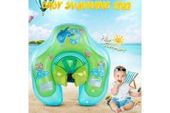 Inflatable Baby Swimming Ring Swim Trainer Safety Neck Float Pool Water Fun Toy(green,Type 3)