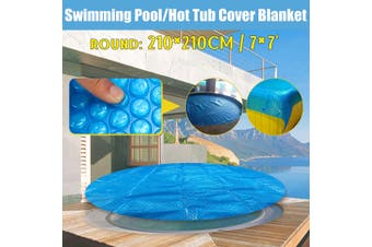 7inch Spa Hot Tub Thermal Bubble Solar Blanket Cover Round Heat Retention Anti-UV(Round 210x210cm)