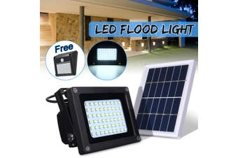 【Free Shipping + Flash Deal】 Solar 54 LED Light Sensor Flood Spot Lamp Garden Outdoor Security Waterproof (white,Without Bracket)