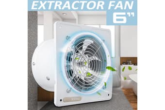 6 Inch 2600RPM Silent Extractor Fan Wall Extractor Ventilation Fan Bathroom Kitchen Toilet 220V 40W 1100m3/H(white)