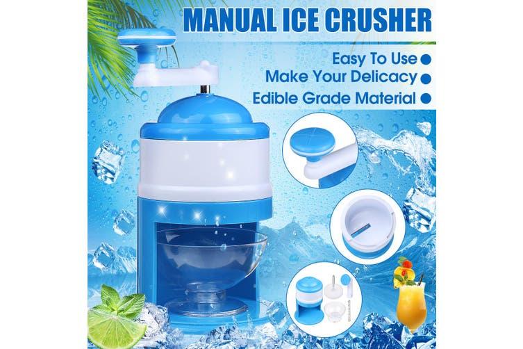 Manual Ice Shaver Crusher Snow Maker Slushy Sand DIY Machine Summer Home