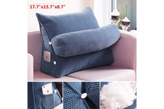 Sofa Bed Office Lounger Cushion Adjustable Waist Neck Support Back Wedge Pillow(purple,45x40x22cm)