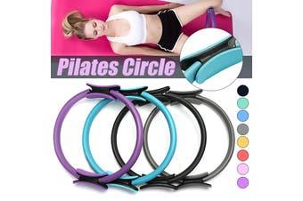 Dual Grip Pilates Ring Magic Circle Sport Exercise Fitness Weight Body Slimming Yoga Tool Equipment (Diameter: 37cm)(grey)